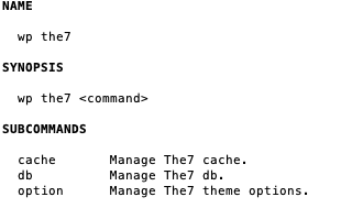 Fig. 1. The7-CLI commands